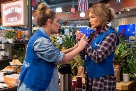 Leah Remini (left) and Jennifer Lopez (right) in Second Act.