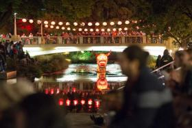 The lantern festivals in Christchurch (above) and Auckland.