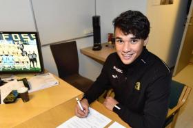 Ikhsan Fandi has signed a two-year contract with Raufoss.