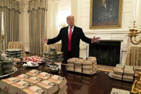 White House chefs hit by shutdown so Trump offers visitors fast food