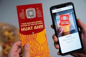 DBS unveils red packets with QR code