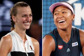 Petra Kvitova (left) will face Naomi Osaka (right) in tomorrow's final.