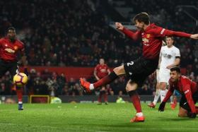 Victor Lindelof (centre) equalising for Manchester United in the dying minutes.