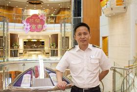 Royal Caribbean's first Asian captain spends half his CNYs at sea
