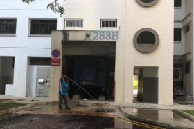 Ms Siivashinni Johanan and her five-year-old daughter Chiryllanyaa Ganesan were found motionless at the foot of Block 288B Jurong East Street 21 in front of the refuse area.