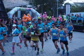Over 6,000 participants taking part in Run for Hope 2019 at the Singapore Sports Hub's OCBC Square on Sunday.