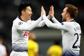 The likes of Son Heung Min (left) and Christian Eriksen could be coming to Singapore in July.