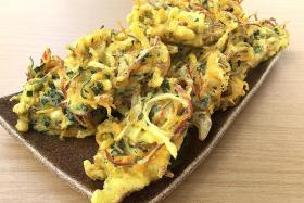 Load up on your greens with vegetable and krill fritters