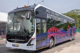 NTU, Volvo launch autonomous electric bus
