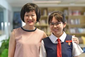 Mrs Koh Mei Chin and Low Jie Ying of Paya Lebar Methodist Girls' School (Secondary).