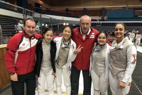 Fencers bag historic gold in Asian meet