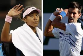 Osaka (left) and Djokovic were sent packing by Bencic and Kohlschreiber respectively.