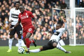 Sadio Mane's goal against Fulham was his fifth in three games.