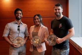 Passers-by receive awards for helping to nab snatch thief, upskirter
