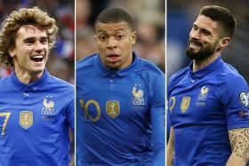 France's front three gives Iceland the Bleus