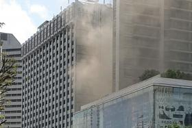 A fire in a restaurant at a hotel in Scotts Road led to about 500 people being evacuated yesterday. The Singapore Civil Defence Force (SCDF) said it responded to the incident at the Grand Hyatt at about 11.20am. The fire was extinguished by a water sprinkler before SCDF arrived at the scene. No injuries were reported.