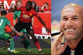 Zinedine Zidane (right) admits he is a fan of Paul Pogba.