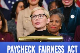 Actress Michelle Williams pushes for gender pay gap law in Congress
