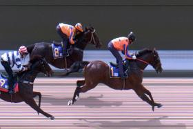 Federation (No. 1) taken out by Glen Boss in Tuesday's Trial 3, the three-year-old leading from go to whoa over the 1,000m.