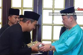 Johor ruler: Don't start talking about who has power