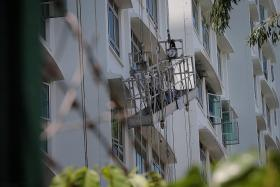 Rescuers force entry into flat to save worker