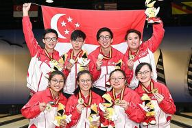 Singapore's young bowlers stage comeback to win gold at Asian meet