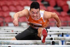 Hurdler Ang Chen Xiang breaks own national record