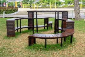 Benches from the former National Stadium re-imagined