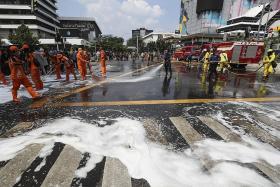 Peace returns to Jakarta