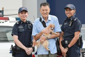 Police save blind dog from fire