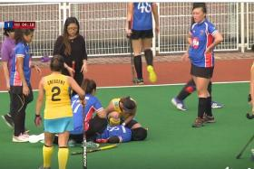 Hockey player suffers stroke after collision