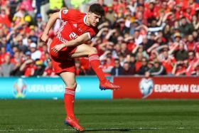 Daniel James scoring Wales' winner against Slovakia in March.