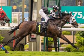 Vulcan stepping up on debut second to lead all the way at Kranji on Sunday.