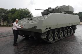 SAF unveils latest armoured vehicle