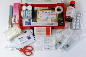 DIY travel first-aid kit