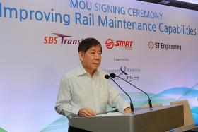 SMRT, SBS, ST Engineering sign MOU to share engineering knowledge
