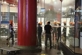 150 evacuated from Sim Lim Square because of bin fire