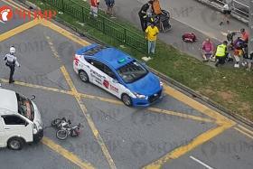 Man, granddaughter taken to hospital after e-bike crash