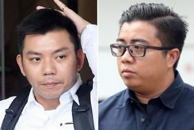 (From left) Witnesses Staff Sgt Ng Meng Kiat and Sgt Mohamed Hanis Mohamed Hussain.