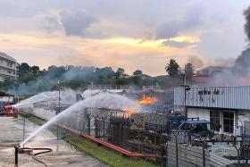 Firefighters describe battle with biggest LPG fire in SCDF history