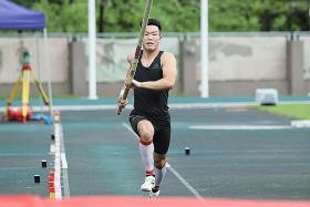 National pole vaulter Ang Guo Jun's delicate balancing act