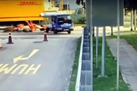 Men sent flying from back of lorry