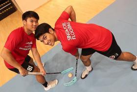 Heartbreak to break for floorball friends Jeremy Chia and Abdul Mateen