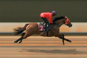 Am The One leading all the way at Kranji yesterday morning.