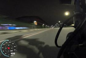 Modified e-scooter clocked at 150kmh on Singapore road