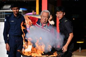 Fire safety training for West Coast stallholders
