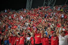 Singapore's fans turned the National Stadium into a sea of red.
