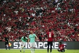 The Manchester United-Inter Milan match at the National Stadium last Saturday drew a record crowd of 52,897 spectators.