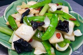 Mix up your veggie options with stir-fried Chinese wild yam