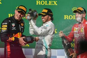 Lewis Hamilton swops tyres and douses Max Verstappen's fire